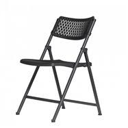 Plastová skladacia stolička ZOWN ARAN CHAIR - NEW - čierna