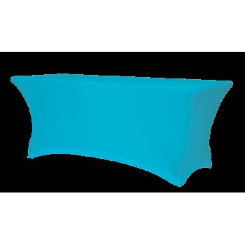 Elastický poťah na hranatý cateringový stôl 153 x 76 cm, modrý