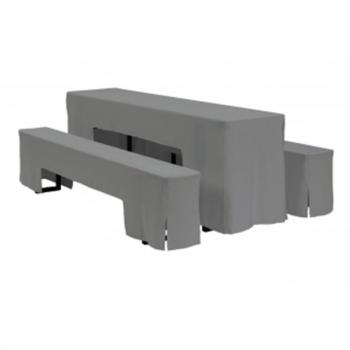 Antracitový poťah na stôl k pivnému sete s rozmermi 220 x 50 cm.