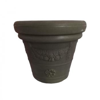 Dizajnový kvetináč Festonato, zelený