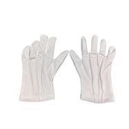 Čašnícke textilné rukavice, biele, veľkosť M