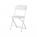 Plastová skladacia stolička Alex chair. Rozmery: 45 x 43 x 80,3 cm.