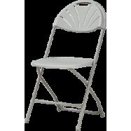 Plastová skladacia stolička Alexandra chair - šedá
