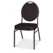 Banketová stolička HERMAN - čierna