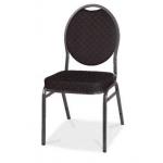 Banketová stolička Herman - Stolička je k dispozícii v troch farebných variantoch - čierna, červená a námornícka modrá.