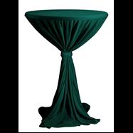 Venice - obrus na koktejlový stôl ∅ 80 - 85 cm so stuhou, Tmavo zelená