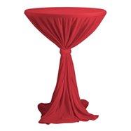 Sidney - obrus na koktejlový stôl ∅ 70 cm so stuhou, Červená