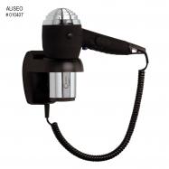Hotelový pištoľový fén ALISEO CHROMO 1200W, chróm/čierny