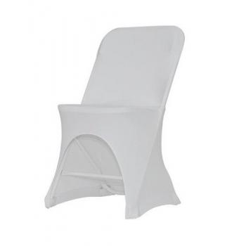 Stretch poťah na stoličku ALEX, Biela