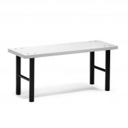 Šatníková lavice, 1000 mm, HPL, šedá