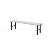 Šatníková lavice, 1500 mm, HPL, šedá