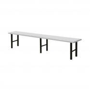 Šatníková lavice, 2000 mm, HPL, šedá