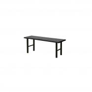 Šatníková lavice, 1000 mm, HPL, čierna