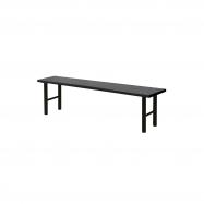 Šatníková lavice, 1500 mm, HPL, čierna