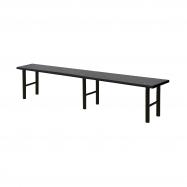 Šatníková lavice, 2000 mm, HPL, čierna