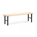 Robustní lavička s laťkovou sedací plochou z borovicového dřeva a zpevněnými podstavami pro vyšší stabilitu.   Bytelná konstrukce Trubkový ocelový rám Lakované borovicové dřevo