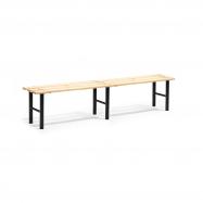 Šatníková lavice, 2000 mm, borovicové drevo