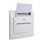 Spínač na pripojenie elektrických spotrebičov, funguje s plastovými kartami, časovač na 15 sekúnd, jednoduchá inštalácia, 230V / 50Hz, relé na 16A, farba: biela