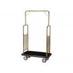 Recepčný vozík LC107tt rozmery (d × š × v): 1060x560x1860 mm, prevedenie: zlaté, materiál: oceľ. rúrka ø 38 mm, kolieska: záťažová ø 150 mm, otočné kolieska: 2