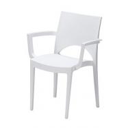 Exkluzívná plastová stolička JUNE s podrúčkami