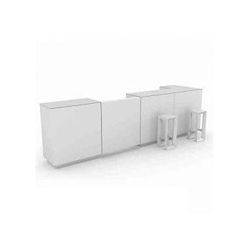 Dizajnový barový pult VELA BAR malý rovný diel