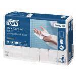 Systém Tork Xpress® papierové uteráky Multifold je vhodný naprostredie vyžadujúce ako komfort, tak hygienu - ako sú reštaurácie, kancelárie a zdravotnícke zariadenia. Kartón 2310 kusov (21 balíčkov po 110 kusov), rozmer uteráka (š xd): 21,2 x 34 cm, váha kartónu: 6,97 kg
