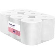 Papierové uteráky v roli Harmony Professional, 2vr., celulóza, biele, 150m