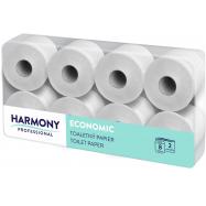 Toaletný papier Harmony Professional 2vr., prírodný recykel, biely 50%, 64x29,5 m