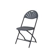 Plastová skladacia stolička ZOWN ALEXANDRA CHAIR - NEW - tmavo sivá