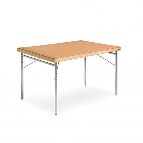 Skladací stôl Amber, 1200x800 mm, HPL buk, kovové nohy
