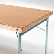 Skladací stôl Amber, 1800x800 mm, HPL buk, kovové nohy