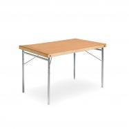 Skladací stôl Amber, 1200x700 mm, HPL buk, kovové nohy