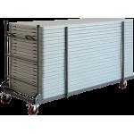 Transportný skladací vozík XLtrolley nastoly XL120, XL150, XL180 a XL200. Rozmery: 193 x 77 x 115cm.
