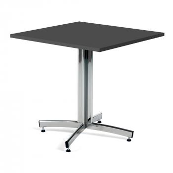 Kaviarenský stolík Sally, 700x700 mm, HPL, čierna / chróm
