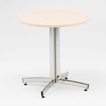 Okrúhly jedálenský stôl Sanna, Ø700 mm, breza, chróm