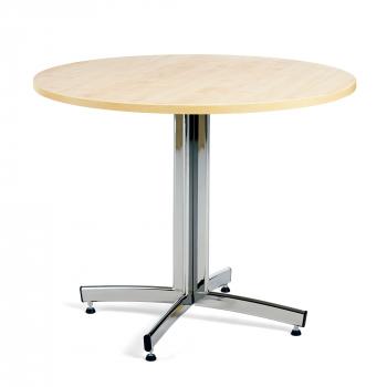Okrúhly jedálenský stôl Sanna, Ø900 mm, breza, chróm