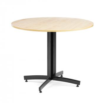Okrúhly jedálenský stôl Sanna, Ø900 mm, breza, čierna