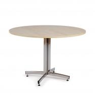 Okrúhly jedálenský stôl Sanna, Ø1100 mm, breza, chróm