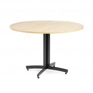 Okrúhly jedálenský stôl Sanna, Ø1100 mm, breza, čierna