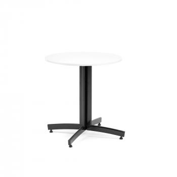Okrúhly jedálenský stôl Sanna, Ø700 mm, biela, čierna
