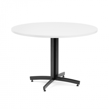 Okrúhly jedálenský stôl Sanna, Ø1100 mm, biela, čierna