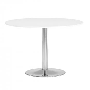 Okrúhly jedálenský stôl Lily, Ø1100 mm, biela / chróm