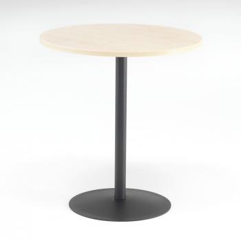 Kaviarenský stolík Astrid, Ø700 mm, breza / čierna