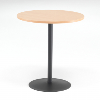 Kaviarenský stolík Astrid, Ø700 mm, buk / čierna