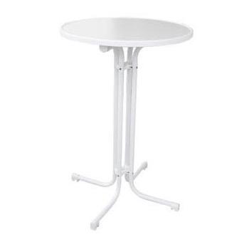 Skladací koktejlový stôl MODENA s doskou Ø 70 cm, biely