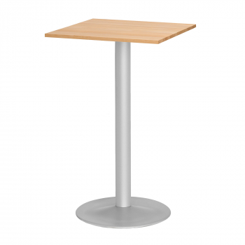 Barový stôl Siri, 700x700 mm, bukový masív, podnož hliníkový lak