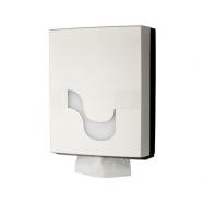 Zásobník CELTEX na skladané papierové uteráky typu V, C, I, ZZ, biely