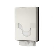 Zásobník CELTEX na skladané papierové uteráky typu M, Z, V, ZZ, biely