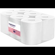 Papierové uteráky v roli so stredovým odvíjaním Harmony Professional Maxi, 2vr., Celulóza, biele, 125m