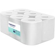 Papierové uteráky v roli so stredovým odvíjaním Harmony Professional Maxi, 2vr., recykel, biele, 125m